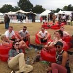 Lily Loveless, Kaya Scodelario и Nicholas Houl на V Festival